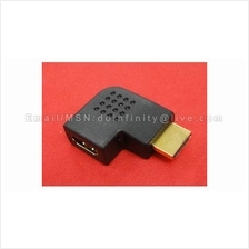 New HDMI Right 90 Degree Flat Male to Female Gold Converter Adapter