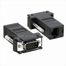 New VGA to RJ45 LAN Cat5e Cat6 Network Cable Video Extender Adapter