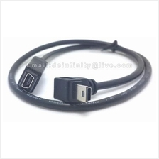 New Mini USB 5 Pin 90 Degree Angle Male to Female 50cm Extension Cable