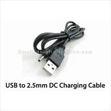 New USB 2.0 to 2.5mm 0.7mm Barrel Jack Charging DC Power Cable MP3 MP4
