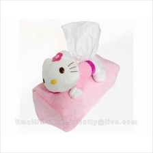 Hello Kitty Plush Soft Pink Tissue Cover Box Holder Home Car Decor New