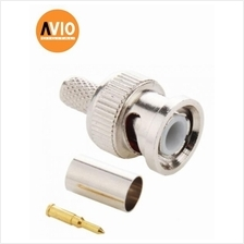 AVIO BNC-CR59 Taiwan High Quality RG59 BNC Connector Male Crimp Type