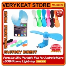 Portable Mini Portable Fan for Android/Micro USB/iPhone Lightning