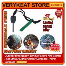 Outdoor Emergency Survival Stone Fire Starter Flint Lighter Camping