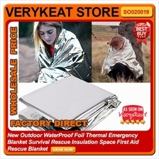 WaterProof Outdoor Thermal Emergency Blanket Survival Rescue Camping