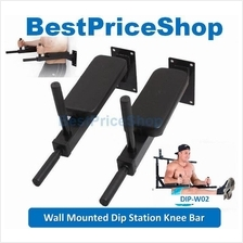 FitExperte Wall Mounted Dip Station Knee Bars Leg Raise six packs abs