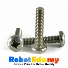 Stainless Steel Round Head PAN Philip M6 Screw /Bolt -10 20 30 50 60mm