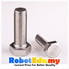 Stainless Steel Hex Head M6 6MM Machine Screw / Bolt -10 20 30 50 60mm