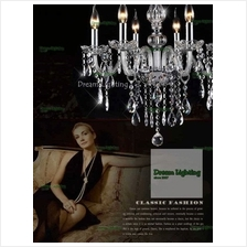 Full Crystal Chandeliers 6 Lights Fixture Ceiling Light (Crystal Glass)