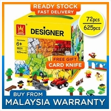 LEGO compatible 72/625 Pieces Bricks Building Blocks Toy (Age 3+/6+)