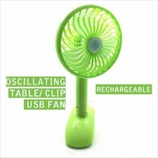 USB Fan Table Clip Rechargeable Portable Oscillating Fan