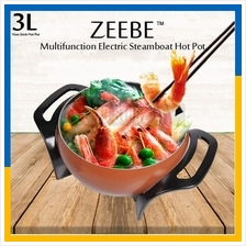 ZEEBE Multifunction Electric Steamboat Hot Pot Non Stick Pan 3L 23cm