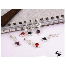 03374 Korea design retro zircon earrings
