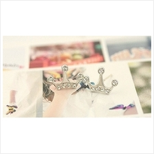 03366 Crown Korean diamond earrings