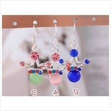 03349 Crown Korean diamond earrings