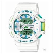 CASIO GA-400WG-7A G-SHOCK ana-digi White Green Series resin strap SC