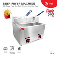 Deep Fryer Gas Big Tank Double Fire 15 Litre