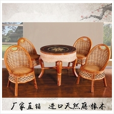 544835028399 Natural rattan hand made five pc set