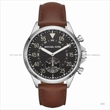 MICHAEL KORS ACCESS MKT4001 Gage Hybrid Smartwatch Leather Black Brown