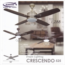CRESCENDO525 52-Inch 4-Blade Come With Integrated Single Light 6Speed Remote C