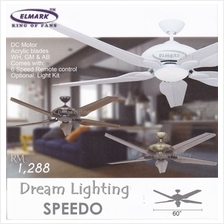 SPEEDO 60-Inch 5-Blade 6Speed Remote Ceiling Fan (DC Motor)