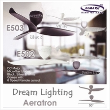 Aeratron E503 50-Inch 3-Blade 6Speed Remote Ceiling Fan (DC Motor)