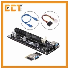 USB 3.0 PCI-E Express 1x To 16x Extender Riser Card Adapter Power Cabl