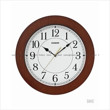 CASIO IQ-133-5 analog wall clock easy reader sweep smooth second wood