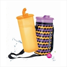 Tupperware Fridge Water Bottle (2) 2.0L Free Pouch - Orange + Purple