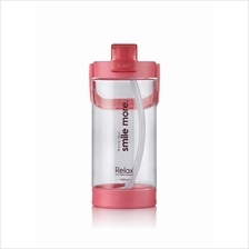 1400ml Relax Tritan Water Bottle with Straw- D7214 Light Red