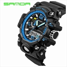 SANDA 732 Waterproof Multifunctional Sports Men Digital Watch (Blue)