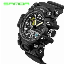 SANDA732 Waterproof Multifunctional Sports Men Digital Watch-FullBlack