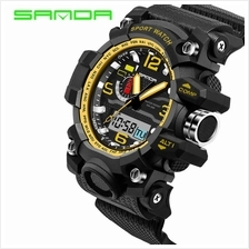 SANDA 732 Waterproof Multifunctional Sports Men Digital Watch (Gold)