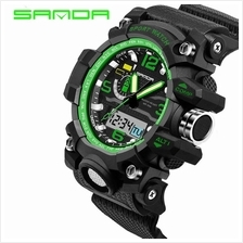 SANDA 732 Waterproof Multifunctional Sports Men Digital Watch (Green)