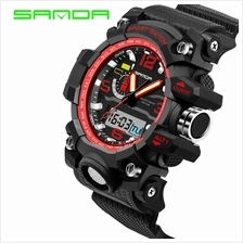 SANDA 732 Waterproof Multifunctional Sports Men Digital Watch (Red)