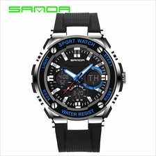 SANDA733 Waterproof Multifunctional Sports Men Digital Watch (Blue)