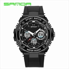 SANDA733 Waterproof Multifunctional Sports Men Digital Watch-FullBlack