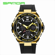 SANDA733 Waterproof Multifunctional Sports Men Digital Watch (Gold)