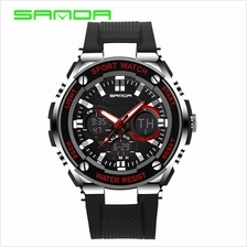 SANDA733 Waterproof Multifunctional Sports Men Digital Watch (Red)