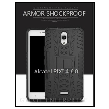 Alcatel PIXI 4 6.0 Shockproof Armor Standable Case Cover