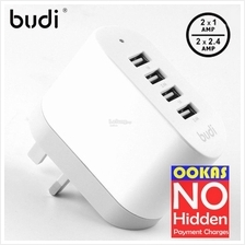 BUDI High Power 6.8A USB Foldable Wall Charger Smartphone Tablet