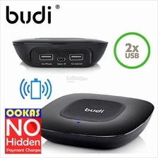 Budi Qi-Certified Wireless Charger with Extra 2 USB Port Charging