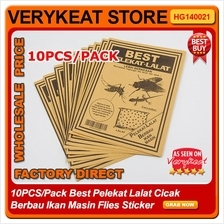 10PCS/Pack Best Pelekat Lalat Cicak Berbau Ikan Masin Flies Sticker