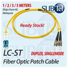 LC-ST Single Mode Optical Fiber Patch Cord FTTH SMF 1M 2M 3M 5M Cable