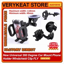 New Universal 360 Degree Car Mount Phone Holder Windshield Clip FLY