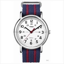 TIMEX T2N747 (U) Weekender Slip Thru nylon strap white blue red