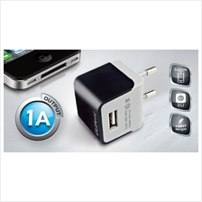 CLIPTEC SINGLE USB PORT 1A HOME CHARGER (GZU360) BLACK