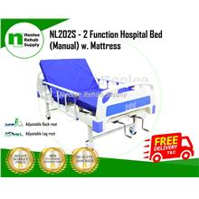 [Neolee] Katil Hospital Bed (Manual) 2 Fungsi - Hospital Bed(w Boards)