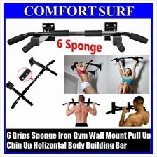 Gym Fitness Wall Mount Horizontal Body Building Pull Up Chin Up Bar