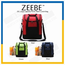 ZEEBE 25L Large Insulated Thermal Lunch Box Warm Cooler Food Bag 1306